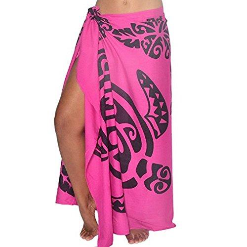 Falda para mujer con estampado de hojas y protector solar, para playa, bikini para verano, mini vestido