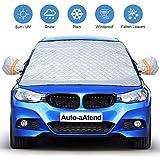 Auto-aAtend Auto Windschutzscheibe Abdeckung, Magnetische Schneedecke mit Zwei Spiegelabdeckungen, Ultradicke Autoschutzscheibe - Staub Sonnenschutz bei jedem Wetter