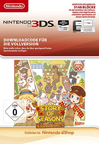 Story of Seasons: Trio of Towns | 3DS - Download Code