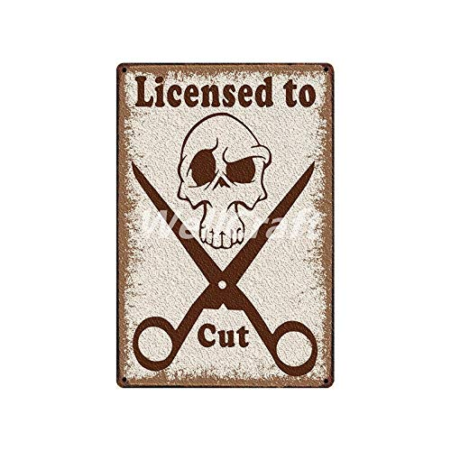 Ubranded Barber Shops Metal Signs Wall Poster Plaque Wholesale Custom Funny Iron Painting Antique Bar Store Decor SL-10032