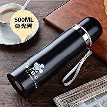 Stainless Steel Bullet Vacuum Insulation Cup Water Cup Outdoor Sports Water Bottle Gift Home Essential 500Ml Matte Black