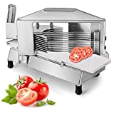 Happybuy Commercial Tomato Slicer 3/16 inch Heavy Duty Tomato Slicer Tomato Cutter with Built-in Cutting Board for Restaurant or Home Use (3/16 inch)