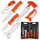 Maxam Field Dressing Kit, for Hunters and Fishermen, Portable Game Processing Kit in a Durable Case, 7-Piece