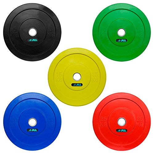 JLL Coloured Olympic Bumper Weight Lifting Plates (2 x 5kg (10kg))