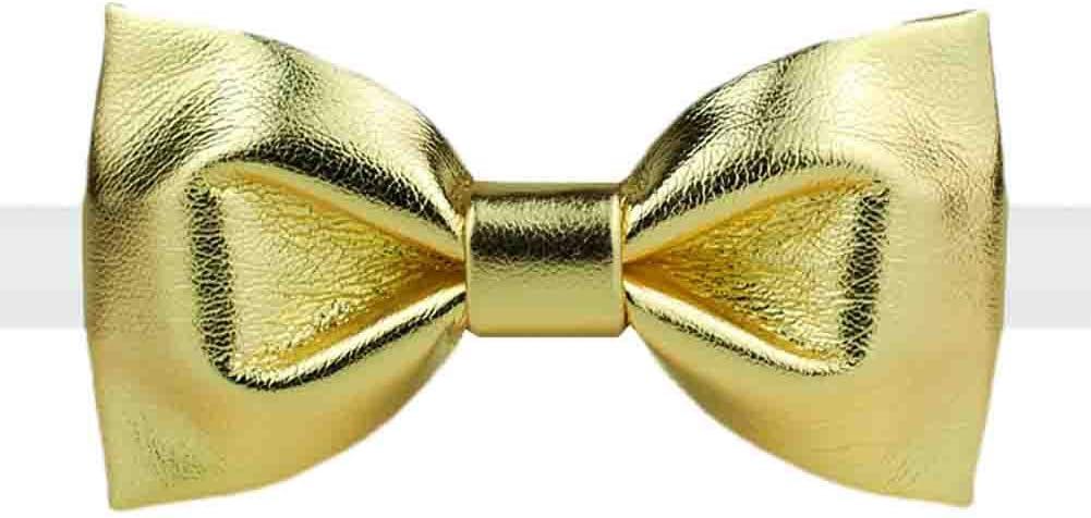 Panda Legends Old-Fashion Golden Bow Tie Adjustable Wedding Parties Neckties for Men/Boys