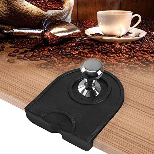 Caffè Tappetino Antiscivolo, 12,5 x 14 Cm Silicone Tamper Supporto Mat Pressatura Pad Per Macchina Da Caffè Semiautomatica/Funzionante,Caffè/Nero(Nero)
