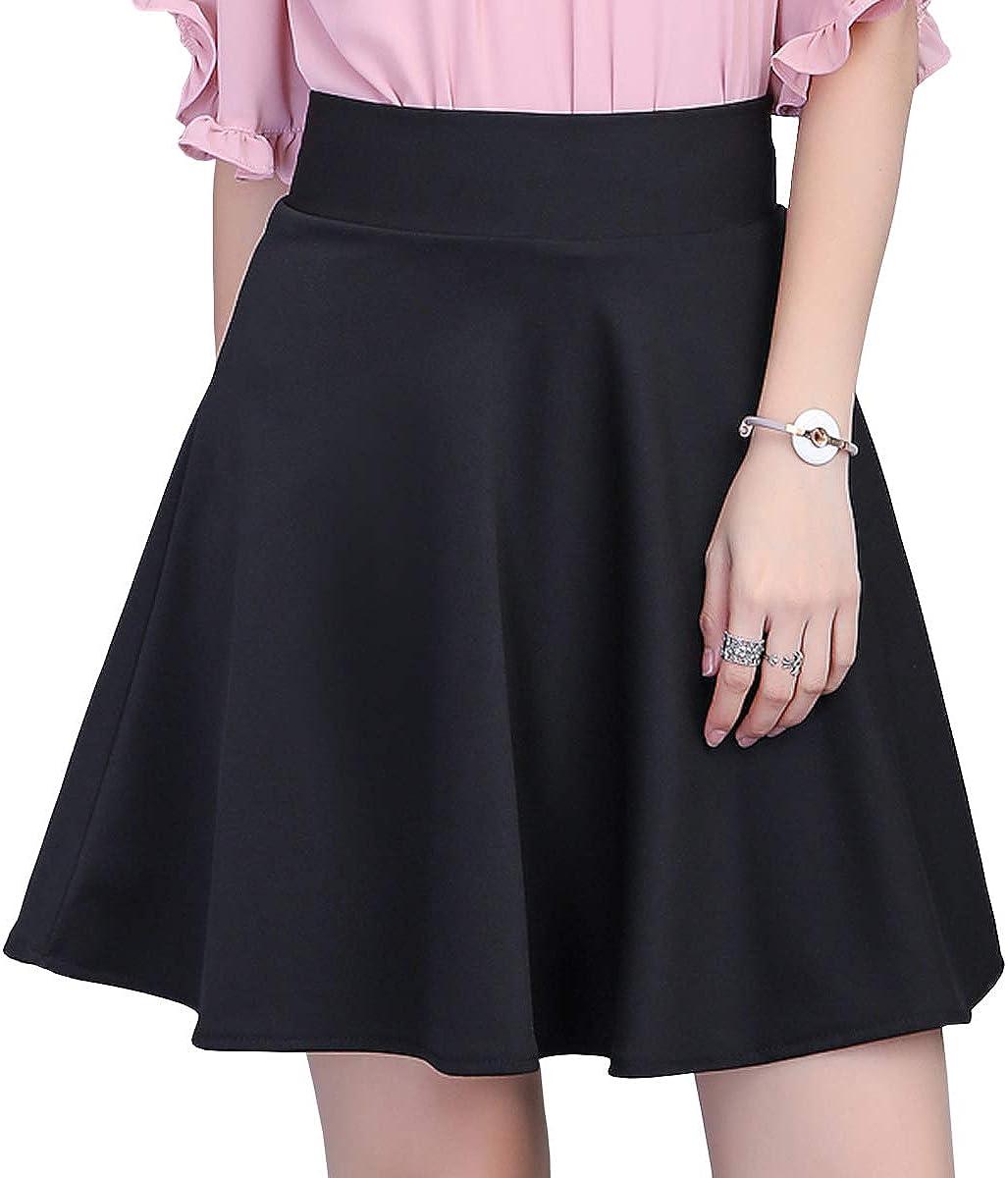 DISSA CA606 Women Pleated Mini A-Line Skirt