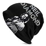 Neil Diamond Unisex 3D Impreso Sombrero Beanie Sombrero Cálido Sombrero de Calavera Sombrero de Punto de Invierno Negro