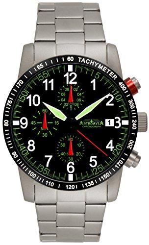 Astroavia N67S-10ATM Orologio da uomo Cronografo Nero Chronograph 40 mm
