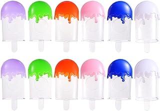Beaupretty 12 Stuks Wimpers Verpakking Doos Draagbare Mini Snoep Kleur Ijs Vorm Lash Houder Wimper Lolly Container For A T...