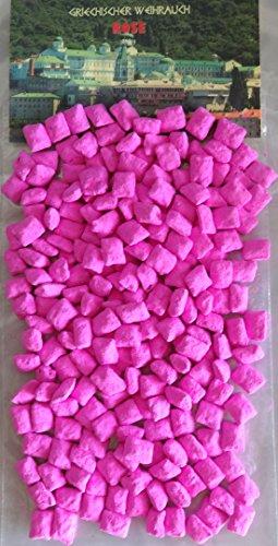 TRIMONTIUM GWR06-250 Rookwerk Griekse wierookstukken voordeelverpakking roze 250 g voor het roken op kolen of zeef, hars/talkum/etherische oliën, roze, 13 x 7 x 2,5 cm