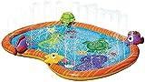 FLZXSQC Los niños al aire libre del jardín del espray del agua del cojín de la historieta del agua del Splash del juego de la piscina que juega