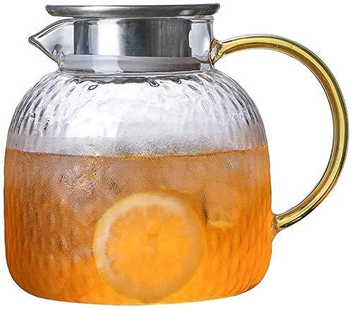 Bouilloire induction Bureau d'eau froide bouteille marteau verre haute température chaleur à hautes températures d'ébullition eau ménage théière de fleur pour la maison en verre extérieur WHLONG