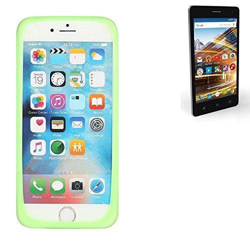 K-S-Trade® Für Archos 50d Neon Silikonbumper/Bumper Aus TPU, Grün Schutzrahmen Schutzring Smartphone Case Hülle Schutzhülle Für Archos 50d Neon