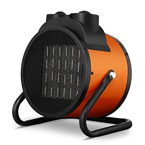 Bakaji Estufa eléctrica con elementos calefactores de cerámica, calefactor industrial, potencia 2000 W, termostato ajustable, función ventilador frío, inclinación ajustable