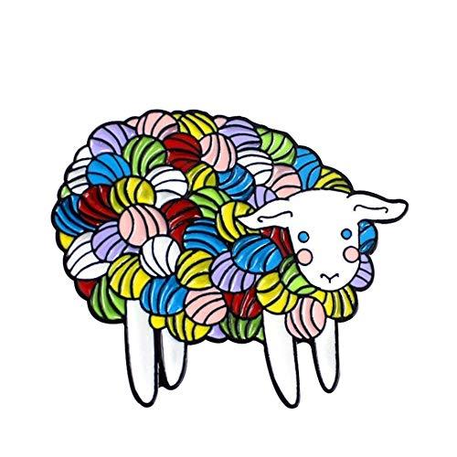 Un-brand Bunte Schafe Pin Abzeichen Emaille Jacke Shirts Tasche Dekor langlebig und nützlich