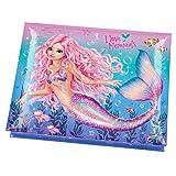Depesche 11041 TOPModel Fantasy - Schreibwarenbox im Mermaid Design, mit Bleistiften, Radiergummi, Büroklammern, Notizzettel und Spiegel, ca. 20 x 15,5 x 3,2 cm groß