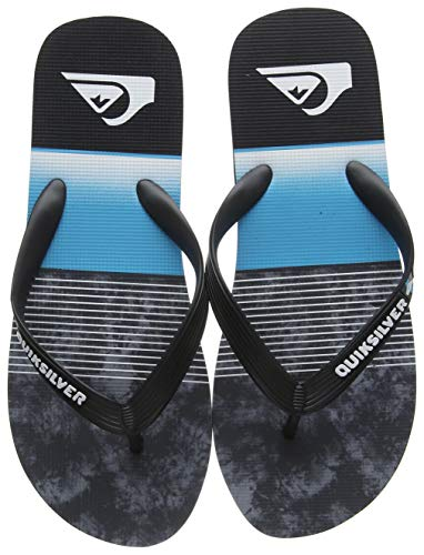Quiksilver Molokai Slab-Sandals for Men, Zapatos de Playa y Piscina para Hombre, Negro (Black/Blue/Grey Xkbs), 47 EU