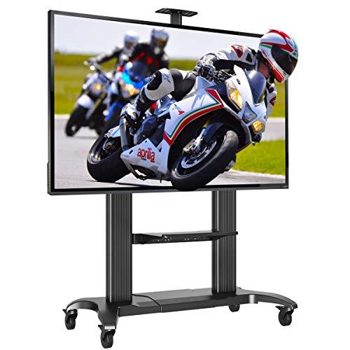 Soporte con Ruedas Profesional para televisores Grandes de 60 a 100 Pulgadas con VESA MAX 1000 x 600 mm, Capacidad máxima 90,9 kg, Negro