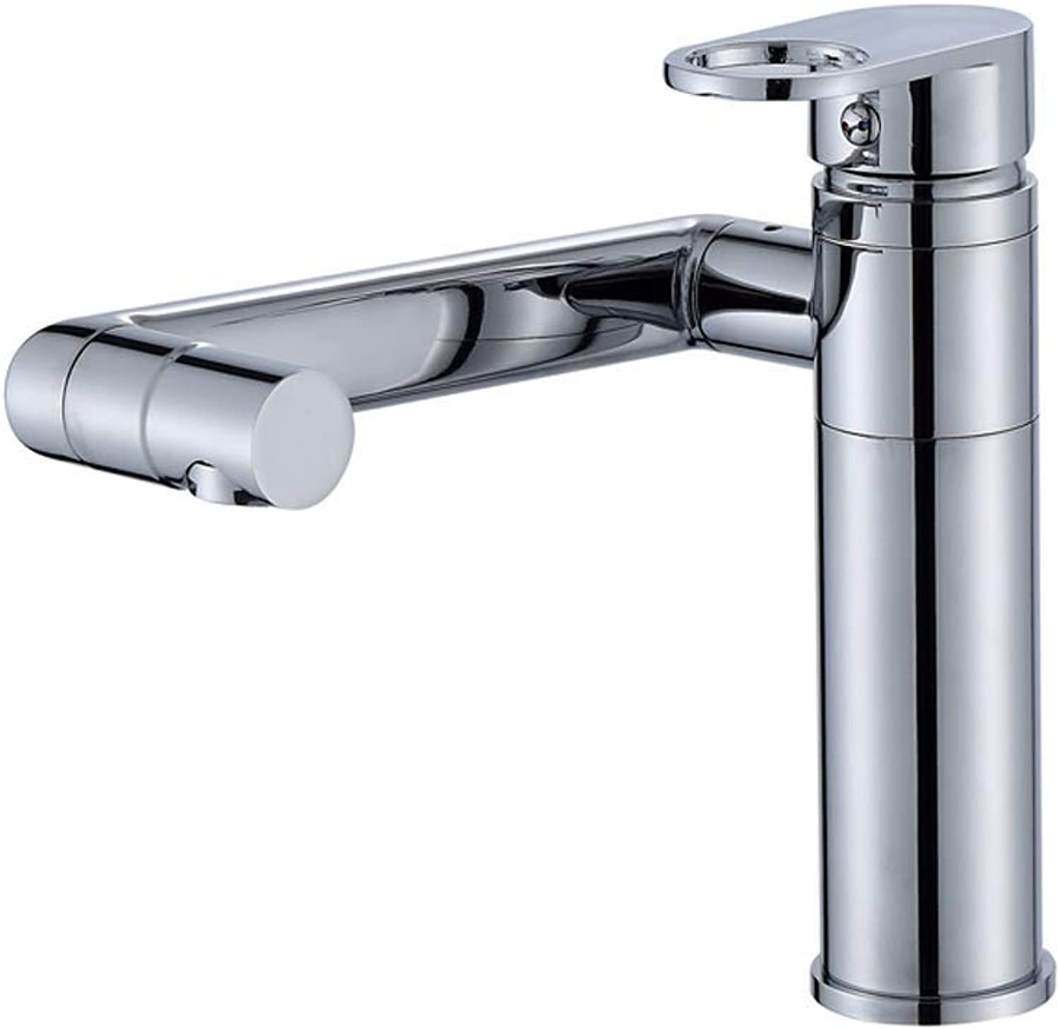 Tap Bathroom Taps, Copper redary Basin Faucet Single Hole Hot And Cold Basin Washbasin Faucet 1 2 Inlet