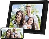 Marcos Fotos Digitales AEEZO de 10 in con Pantalla Táctil IPS, resolución 2K, 16 GB de Almacenamiento y Facilidad de Configuración, Auto-Rotar (Nergo).