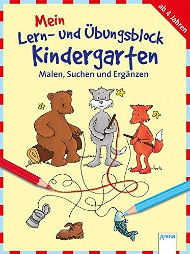 Malen, Suchen und Ergänzen: Mein Lern- und Übungsblock für den KINDERGARTEN (Kleine Rätsel und Übungen für Kindergartenkinder)