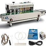 Automatic Continuous Sealing Machine,110V Food Sealer Horizontal Auto Impulse Sealer Machine Plastic Sealer