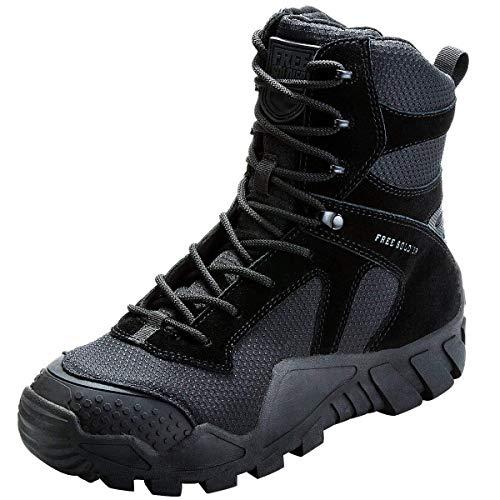 FREE SOLDIER Botas de Caza para Hombres Botas Militares de Combate de Tiro Alto con Cordones Zapatos Ligeros para Todo Terreno para Senderismo, Trabajo, Selva(Camouflage,39)