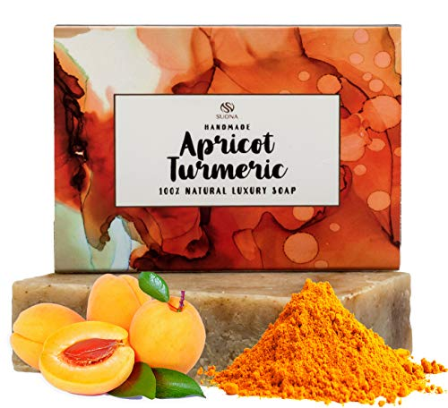 Turmeric Soap - Skin Brightening Soap Bar for Acne & Dark Spots -100% Natural Face Lightening Organic Body & Facial Soap. Soothes Eczema & Dry Skin. A Gentle Cleansing Soap Bar for All Skin Types