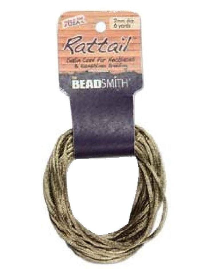 3mm Satin Rattail Braiding Cord Coffee 6 Yards For Kumihimo and Craft