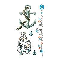タトゥーシール 錨 カラーアート (GT-220)Tattoo seal ボディシール フェイクタトゥー タトゥシール刺青 トライバル ボディアート ボディジュエリー