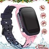 Rellotge Intel·ligent per a Nens, *Smartwatch *Telefono IP67 Impermeable amb *LBS Rastrejador Conversa Bidireccional Anomenada per Veu Xat SOS Càmera Despertador Joc per a Nens Nena 3-12 Anys (S2 *Pink)