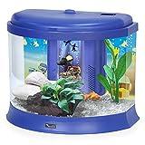 Aquatlantis AquaTresor - Acuario con Filtro y LED, Color Morado