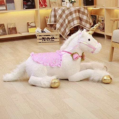 CGDX 100 cm Unicornio Peluches Unicornio Gigante Animal de Peluche Caballo Juguete Suave Unicornio Peluche Muñeca Regalo de cumpleaños Niños Photo Props 100cm Blanco