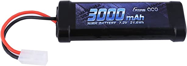 Gens ace 7.2V 3000mAh NiMH Battery High Power Rechargeable Low-self Discharge with Tamiya Plug for RC Cars Truggy Tank Electric RC Monster Truck Buggy Traxxas LOSI Associated HPI Tamiya Kyosho