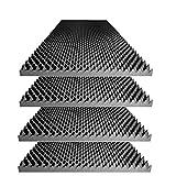 Foamily Acoustic Foam Egg Crate Panel Studio Foam Wall Panel 48' X 24' X 2.5' (4 Pack)