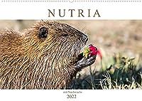 NUTRIA mit Nachwuchs (Wandkalender 2022 DIN A2 quer): Nutria hautnah (Monatskalender, 14 Seiten )