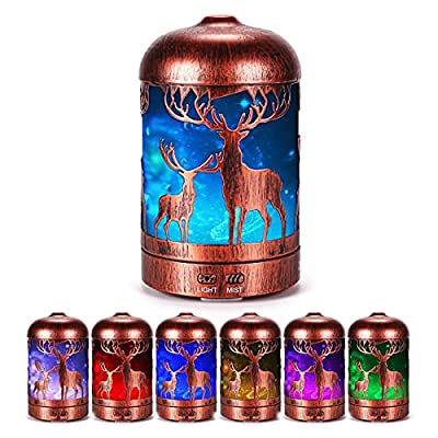 Amazon - 60% Off on Aroma Oil Diffuser, 3D Metal Deer Defusers, Ultrasonic Cool Mist Essential