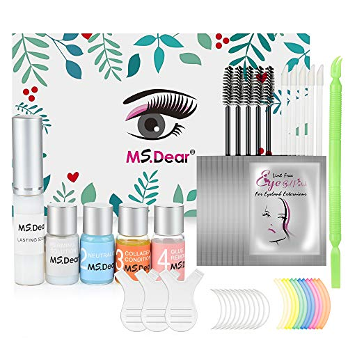 Wimpernlifting Set, MS.DEAR Wimpern Curling Wimpernverlängerung Starter Kit, Eyelash Lifting Kit, Wimpernzange Wimpern Perming Wimperndauerwelle Kit für Salon, Familie, Wimpernkünstler, Geschenkset