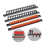 3-H Soporte de destornillador, Organizador de destornillador de montaje,Parat Tornillo de sujeción, organizador herramientas pared (2 Negro 1 Rojo 1Azul 1 Verd 1 Naranja) (2 Negro 2 Naranja)