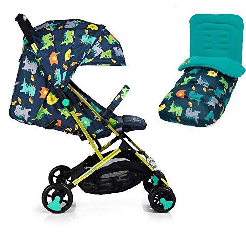 Cosatto Woosh 2 Kinderwagen Dragon Kingdom mit Fußsack Regenschutz und Stoßstange, Geburt bis 25 kg