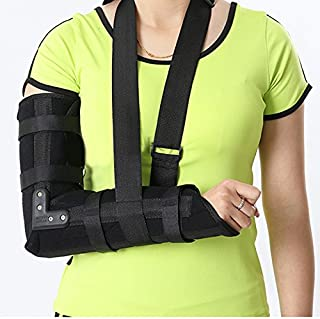 Zinnor Arm Sling,Arm Sling Elbow Shoulder Padded Support Brace Humerus Brace Splint,Medical Grade Quality, Breathable, Helps Support&Elevate Arm,Injury Recovery,Pre/Post Surgery (Small - (18.1''))