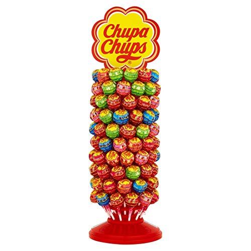 Chupa Chups Caramelo con Palo de Sabores Variados - Rueda de 120 unidades de 12 gr/ud