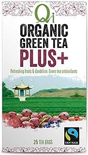 Qi Tea Green Tea Plus Teabags, 25 Count