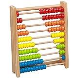 Juguetes de educación infantil Juguete de desarrollo clásico de madera de aprendizaje Juguete Abacus juguete - Matemáticas Números manipulativos que cuenta granos |Juguetes educativos for niños pequeñ