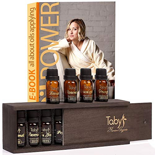 Aromatherapy Essential Oils for Humidifier 100% Natural 8 Oils Gift Set - Bergamot, Lavender, Tea Tree, Peppermint, Lemon, Eucalyptus, Orange, Rosemary
