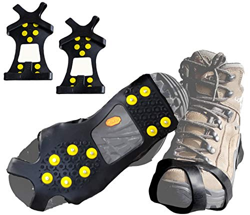 Limm Crampons Ice Walking Traction Cleats  Medium Lightweight Ice Cleats for Snow amp Ice  Anti Slip Shoe Grips Quickly amp Easily Over Footwear  Portable Ice Grippers for Shoes and Boots