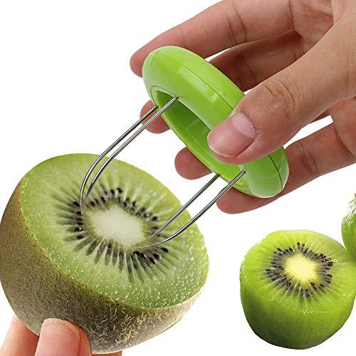iTimo 1 Stück Küchenschäler Obstkiwi-Schneider Gerät Schneiden Graben Kern Twister Slicer, zufällige Farbe