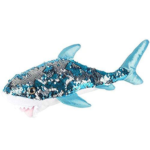 Adventure Planet Reversible Mermaid Sequins Great White Shark 10 Plush