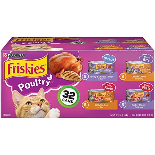 Purina Friskies Canned Wet Cat Food 32 Count Variety Packs - (32) 5.5 oz Cans 3